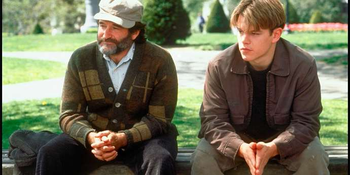 Robin Williams a Matt Damon ve filmu Dobrý Will HUnting